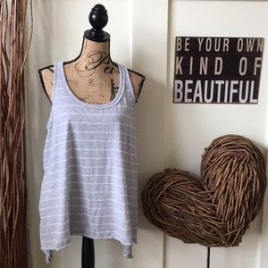 Mossimo Supply Co. gray striped sleeveless tunic